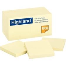 MMM 654918PK 3M Highland Self-Sticking Note Pads MMM654918PK