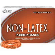 ALL 37196 Alliance Orange Non-Latex Rubber Bands ALL37196