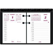 "Brownline Ideal C1S Calendar Pad Refill - Daily - 1 Year - January 2019 till December 2019 - 7:00 AM to 5:00 PM - 1 Day Double Page Layout - 3 3/4"" x 2 7/8"" - White - Paper - Appointment Schedule, Reference Calendar"