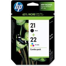 HP 21/22 Original Ink Cartridge - Combo Pack - Inkjet - 190, 165 - Black, Color - 1 Each