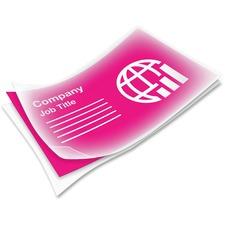 FEL 52058 Fellowes Pretrimmed Glossy Business Card Pouches FEL52058