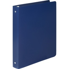 "Acco Accohide Round Ring Binder - 1/2"" Binder Capacity - Letter - 8 1/2"" x 11"" Sheet Size - 100 Sheet Capacity - 23 pt. Binder Thickness - Poly - Blue - 1 Each"