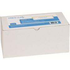 "Avery® Pin Feed Label - 3 1/2"" Width x 15/16"" Length - Permanent Adhesive - Rectangle - Dot Matrix - White - Paper - 5000 / Box"