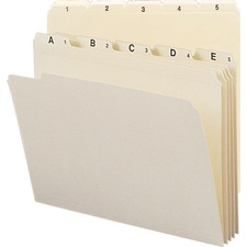 SMD 11769 Smead Indexed File Manila Folder Sets SMD11769