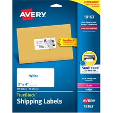 AVE 18163 Avery Laser/Inkjet Printer Shipping Labels AVE18163