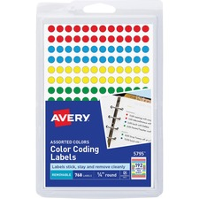 AVE 05795 Avery Round Color Coding Labels AVE05795