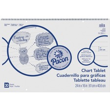 PAC 74630 Pacon Ruled Chart Tablet PAC74630