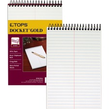 TOP 99708 Tops Docket Gold Spiral Steno Book TOP99708