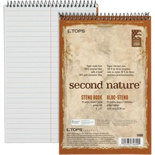 TOP 74690 Tops Second Nature Spiral Steno Notebook TOP74690
