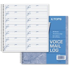 TOP 44165 Tops Voice Message Log Book TOP44165