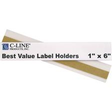 CLI 87627 C-Line Best Value Peel/Stick Shelf Label Holders CLI87627