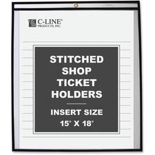 CLI 46158 C-Line Stitched Vinyl Shop Ticket Holders CLI46158