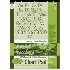 PAC 945710 Pacon Ecololgy Unruled Recycled Chart Pad PAC945710