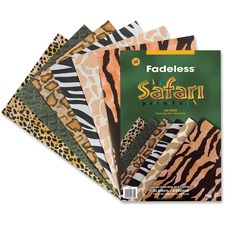 PAC 57770 Pacon Safari Prints Design Bulletin Board Paper PAC57770