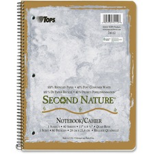 TOP 74112 Tops Quad-ruled Second Nature 1-subject Notebook TOP74112
