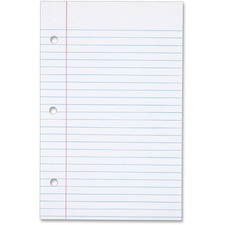 TOP 62304 Tops 3-hole Punched College-ruled Filler Paper TOP62304
