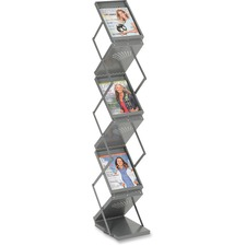 SAF 4132GR Safco Double Sided Folding Literature Display SAF4132GR