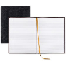 """Rediform Large Executive Hardbound Notebook - Letter - 150 Sheets - Sewn - Ruled - 18 lb Basis Weight - 8 1/2"""" x 11"""" - White Paper - Blue Cover Textured - Hard Cover - Recycled - 1Each"""