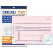 RED 7L787 Rediform Credit Memo Book RED7L787