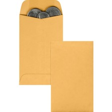 QUA 50262 Quality Park Kraft Coin Envelopes QUA50262
