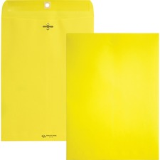QUA 38736 Quality Park Brightly Colored 9x12 Clasp Envelopes QUA38736