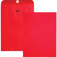 QUA 38734 Quality Park Brightly Colored 9x12 Clasp Envelopes QUA38734