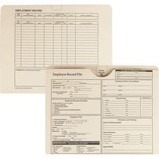 QUA 69998 Quality Park Top-tab Employee Record Folder QUA69998