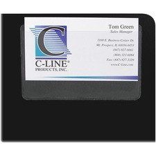 CLI 70257 C-Line Self-adhesive Business Card Holders CLI70257