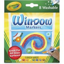 CYO 588165 Crayola Washable Window Markers CYO588165