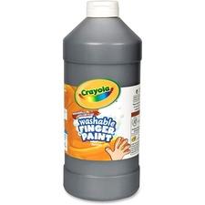 Crayola Washable Finger Paint Marker - 2 lb - 1 Each - Black