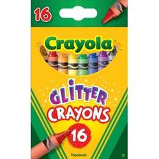 CYO 523716 Crayola 16-ct Glitter Crayons CYO523716