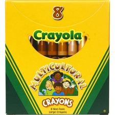 CYO 52080W Crayola Large Multicultural Crayons CYO52080W
