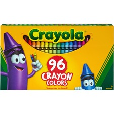 CYO 520096 Crayola Built-in Sharpener 96 Count Crayons CYO520096