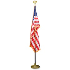 AVT MBE031400 Advantus Goldtone Eagle Deluxe U.S. Flag Set AVTMBE031400