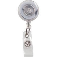 AVT75473 - Advantus Translucent Retractable ID Card Reel with Snaps