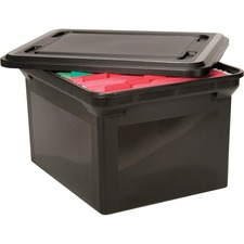 AVT 34052 Advantus File Tote w/lid AVT34052