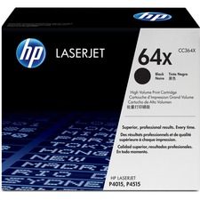 HP 64X (CC364X) Original Toner Cartridge - Single Pack - Laser - 24000 Pages - Black - 1 Each