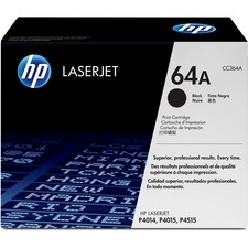 HP 64A (CC364A) Original Toner Cartridge - Single Pack - Laser - 10000 Pages - Black - 1 Each
