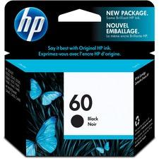HP 60 Original Ink Cartridge - Single Pack - Inkjet - 200 Pages - Black - 1 Each