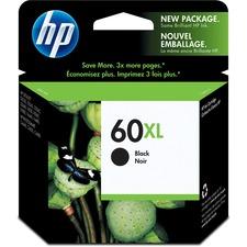 HP 60XL Original Ink Cartridge - Single Pack - Inkjet - 600 Pages - Black - 1 Each
