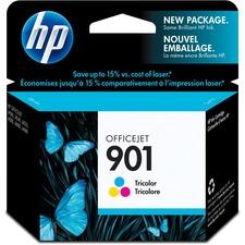 HP 901 Original Ink Cartridge - Single Pack - Inkjet - 100 Pages - Color - 1 Each