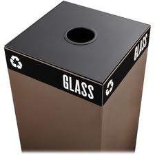 SAF 2988BL Safco Public Square Recycling Station Cans Lid SAF2988BL