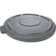 RCP 263100GY Rubbermaid 32-gallon Brute Container Flat Lid RCP263100GY