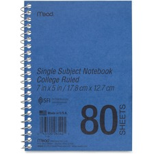 MEA 06542 Mead Heavyweight Single Subject Notebook MEA06542