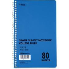 MEA 06544 Mead Single Subject College-ruled Notebook MEA06544