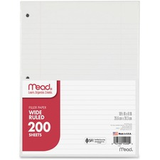 MEA 15200 Mead 3-Hole Punched Wide-ruled Filler Paper MEA15200
