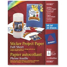 "Avery® Photo Paper - Letter - 8 1/2"" x 11"" - Matte - 15 / Pack - White"