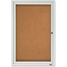 QRT2121 - Quartet Enclosed Cork Bulletin Board for Outdoor Use