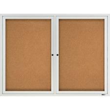 QRT 2124 Quartet 2-Door Enclosed Outdoor Bulletin Board QRT2124