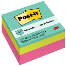 MMM 2027RCR 3M Post-it Ultra Collection Convenient Memo Cubes MMM2027RCR